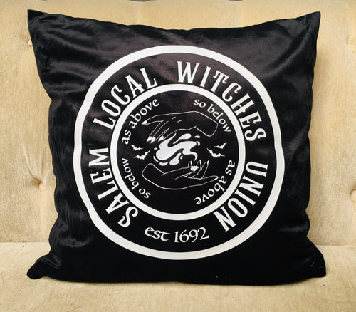 Velvet Pillow Cover - Witches Union