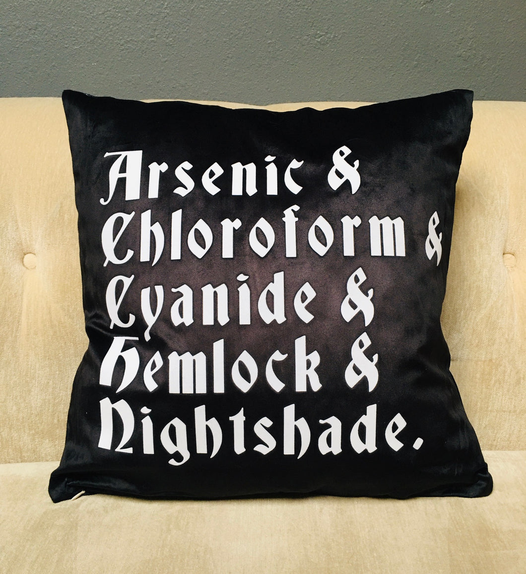 Velvet Pillow Cover - Poisons