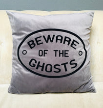 Load image into Gallery viewer, Velvet Pillow Cover - Beware of the Ghosts