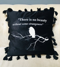 Load image into Gallery viewer, Velvet Pillow Cover - Poe Quote