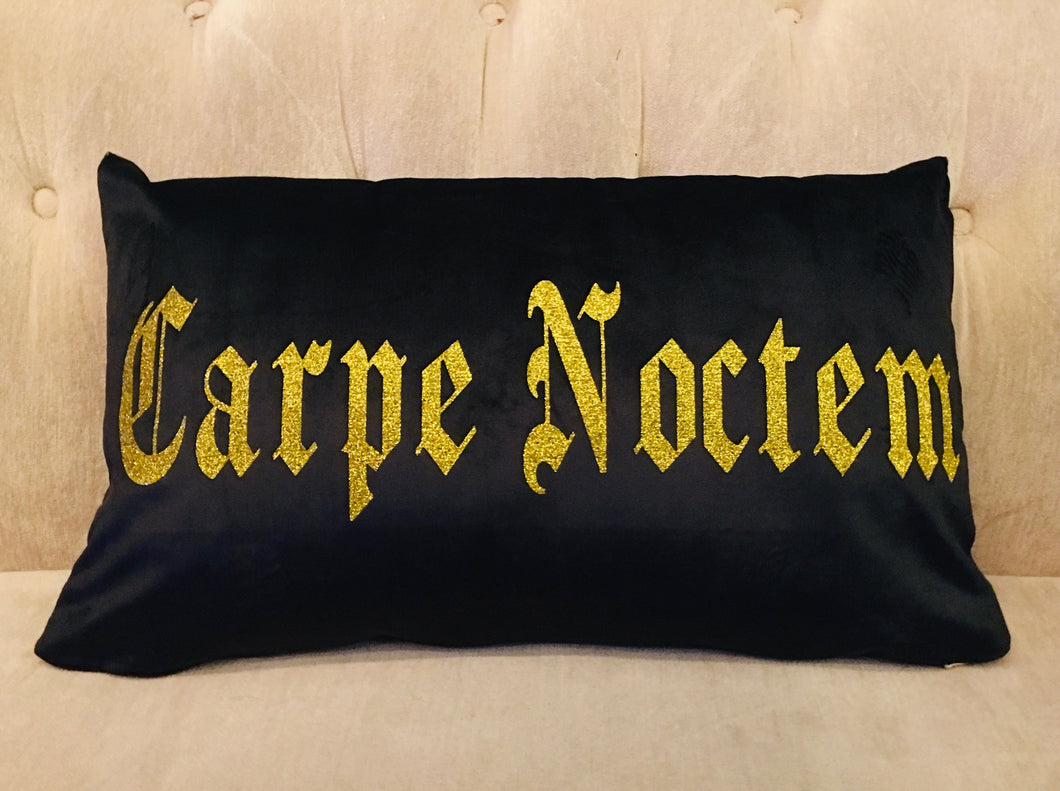 Velvet Pillow Cover - Carpe Noctem