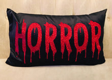 Load image into Gallery viewer, Velvet Pillow Cover - HORROR