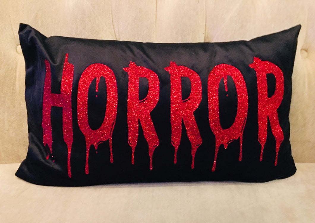 Velvet Pillow Cover - HORROR
