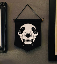 Load image into Gallery viewer, Small Banner - Cat Skull