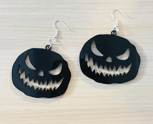 Jack-O-Lantern Drop Earrings
