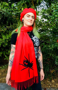 Vegan Cashmere Scarf - Black Widow