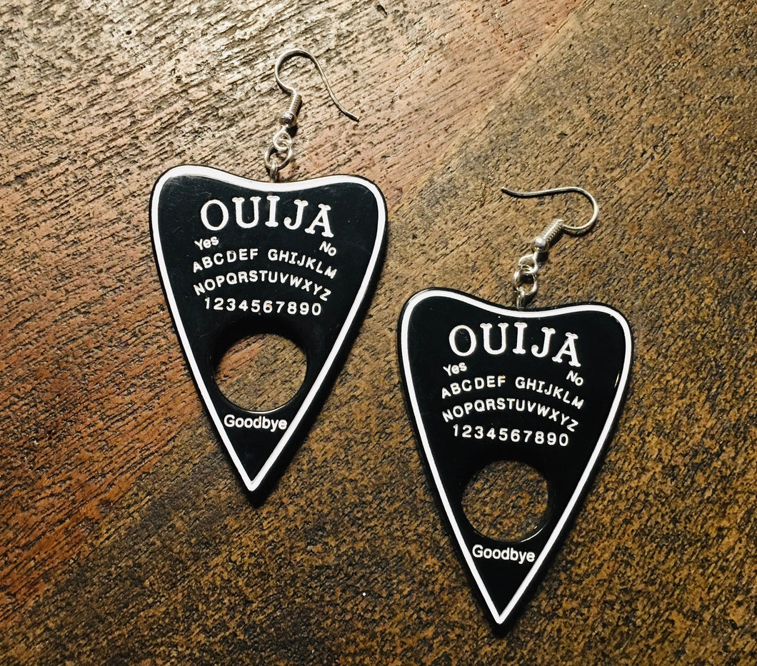 Planchette Earrings - Solid Black