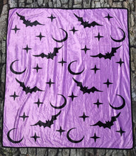 Load image into Gallery viewer, Fleece Blanket - Lavender Bats