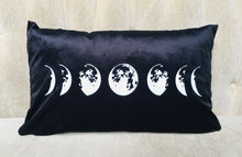 Load image into Gallery viewer, Velvet Pillow Cover - Moon Phase