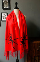 Load image into Gallery viewer, Vegan Cashmere Scarf - Black Widow