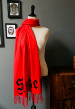 Load image into Gallery viewer, Vegan Cashmere Scarf - Sinner