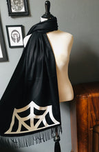 Load image into Gallery viewer, Vegan Cashmere Scarf - Spider Web