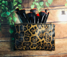 Load image into Gallery viewer, Leopard Print Cosmetic Bag