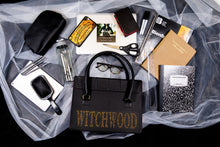 Load image into Gallery viewer, Witchcraft Satchel - Black & Gold Glitter