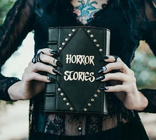 Load image into Gallery viewer, Studded Horror Stories Book Clutch & Crossbody