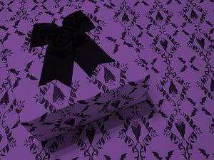 Wrapping Paper - Hanging Bats - Purple