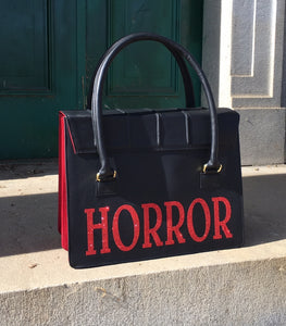 Horror Satchel - Red Glitter