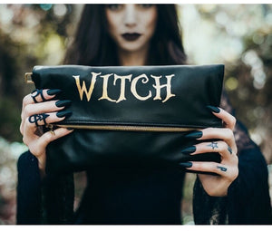 """Witch"" Fold Over Crossbody Bag"