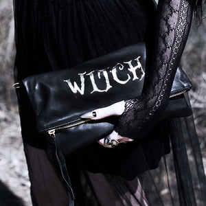 """Wicked"", ""Haunted"" or ""Heathen"" Fold Over Crossbody Bag"
