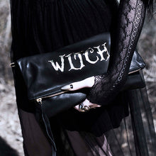 "Load image into Gallery viewer, ""Bruja"", ""Countess"", ""Sinner"" or ""Coven"" Fold Over Crossbody Bag"