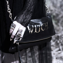 "Load image into Gallery viewer, ""Witch"" Fold Over Crossbody Bag"