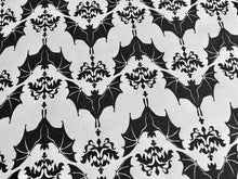 Load image into Gallery viewer, Wrapping Paper - Baroque Bats - White