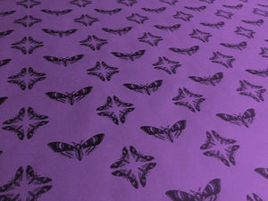 Wrapping Paper - Death Head Moth - Purple