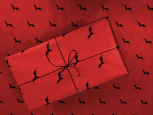 Load image into Gallery viewer, Wrapping Paper - Flying Bats - Red
