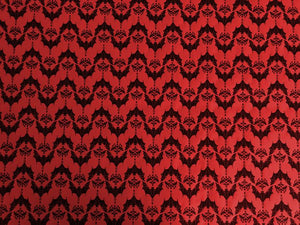 Wrapping Paper - Baroque Bats - Red