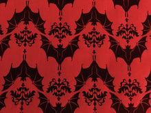 Load image into Gallery viewer, Wrapping Paper - Baroque Bats - Red