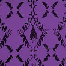Load image into Gallery viewer, Wrapping Paper - Hanging Bats - Purple