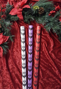 Wrapping Paper - Baroque Bats - White