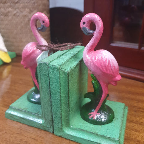 Cast iron Bookends - Flamingo*