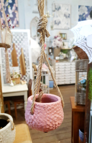Hanging Flower Planter - SMALL PINK