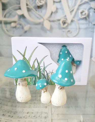 SALE 'Lil Fairy Mushrooms - TEAL