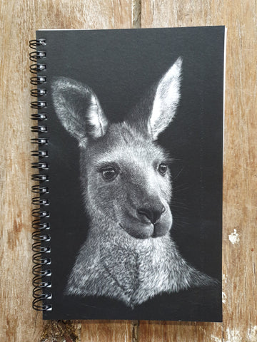 Linda Linda Lunnon Illustration A5 Journal - kangaroo