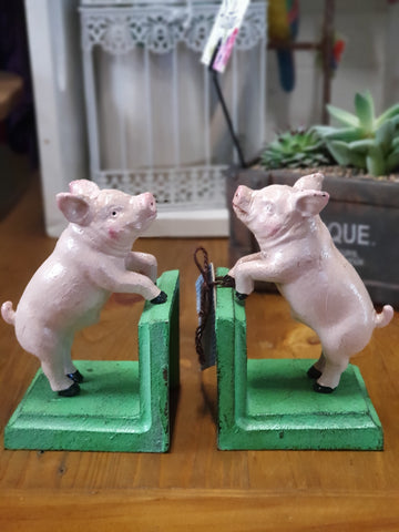 Bookends - Cast Iron Pig