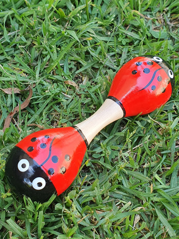 Maraca Rattle small - Lady bug MRSL *