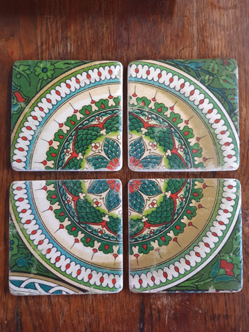 ST20. - Set of 4 Coasters Green *