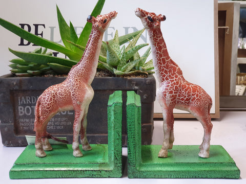 Cast iron bookends - Giraffe BEG20 *