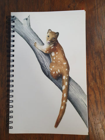 Linda Linda Lunnon Illustration A5 Journal - Spotted Tail Quoll