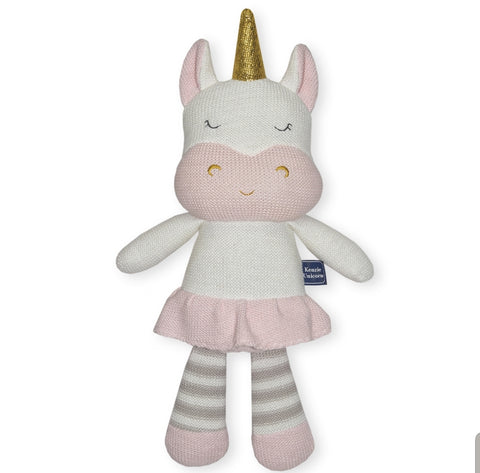 Knitted Unicorn Toy