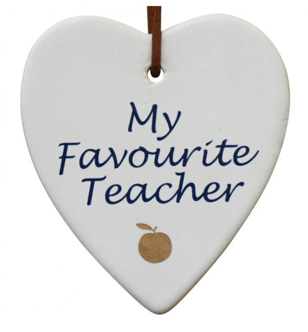 Ceramic tag - my favourite teacher CFT *