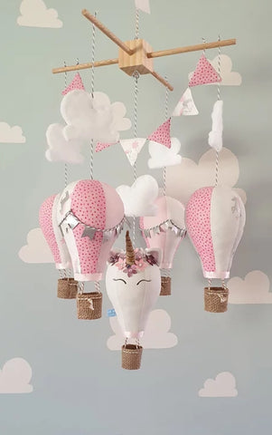 Hot Air Balloon Mobile - unicorn
