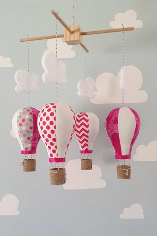 Hot Air Balloon Mobile - pink