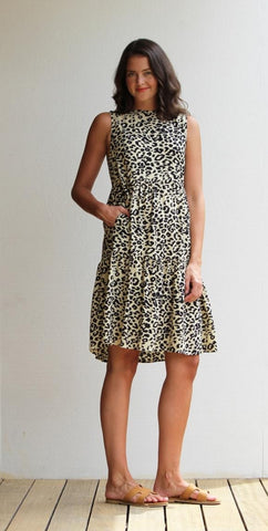 HONEYSUCKLE BEACH Gidget Dress - Leopard print