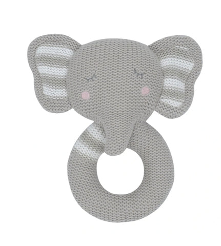 Knitted rattle Eli the Elephant