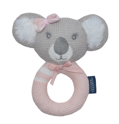 Knitted rattle Chloe the Koala
