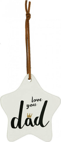 Ceramic tag  - love you dad