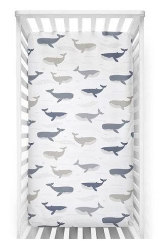 Whale - Cot Fitted Sheet WCFS20